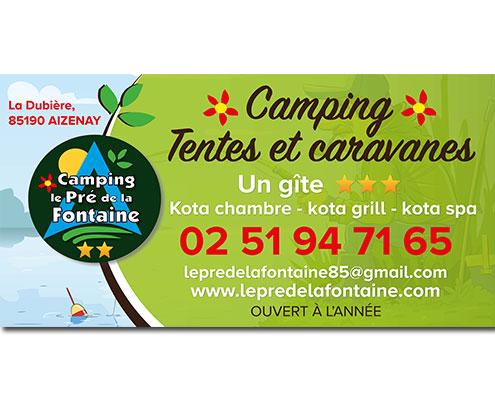 Panneau extérieur Camping Le Pré de la Fontaine, Espace Pub Vendée
