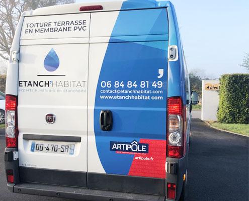 Covering d'un camion Étanch'habitat, Espace Pub Vendée
