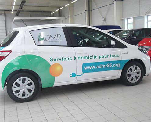 Covering véhicule ADMR 85, Espace Pub en Vendée