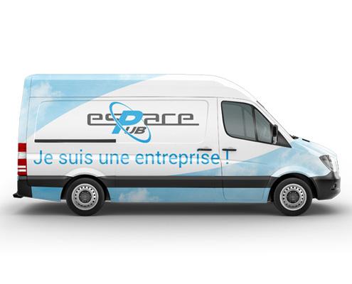Photo covering véhicule, Espace Pub Vendée