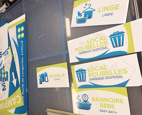 Photo plaques signalétiques Camping Les Mancellières, Espace Pub Vendée