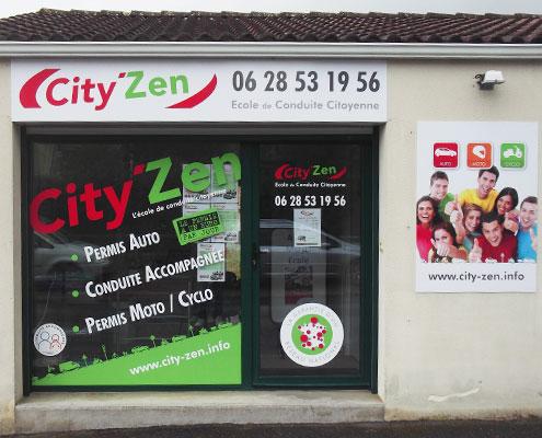 Publicité adhésive City'Zen, Espace Pub en Vendée
